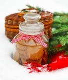 De Noël toujours la vie avec des biscuits de Noël Photos stock