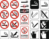 De no fumadores + fichero del vector Imagen de archivo libre de regalías