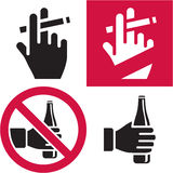 De no fumadores. Ningún alcohol. Foto de archivo