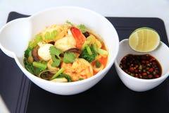 De noedel Aziatisch voedsel van Laksa Royalty-vrije Stock Foto