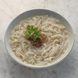 De noedel van varkensvleesrib soup Royalty-vrije Stock Afbeeldingen