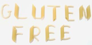 De noedels beschrijven Vrij Gluten, gluten-Vrij op Witte Achtergrond stock afbeeldingen