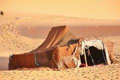 De nomade (Berber) tent royalty-vrije stock foto