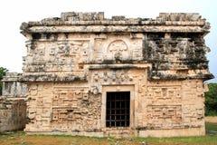 De non die van Itza van Chichen Las Monjas Mayan Mexico groepeert Stock Afbeeldingen