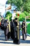 De nonnen nemen aan de godsdienstige optocht deel Royalty-vrije Stock Fotografie