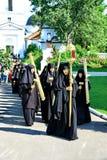 De nonnen nemen aan de godsdienstige optocht deel Royalty-vrije Stock Afbeelding