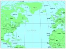 De Noord- Atlantische Oceaan royalty-vrije illustratie