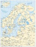 De noordelijke Kaart van Europa Stock Fotografie