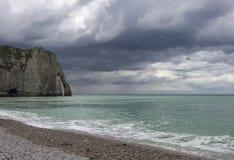 De noordelijke kust van Frankrijk. Stock Foto's