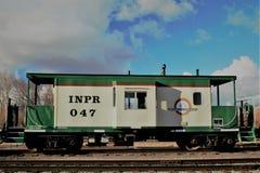 De Noordelijke & Vreedzame Spoorweg van Idaho caboose royalty-vrije stock afbeelding