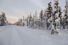 De Noordpoolcirkel Stock Fotografie