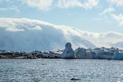 De noordpoollente in zuiden Spitsbergen Stock Fotografie