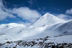 De noordpoolwinter in zuiden Spitsbergen Stock Afbeeldingen