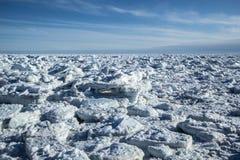 De noordpoolwinter in zuiden Spitsbergen Royalty-vrije Stock Afbeelding