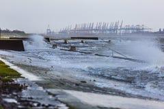 De Noordzee van het onweersgetijde Stock Fotografie