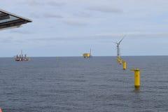 De Noordzee 2019 van het windlandbouwbedrijf royalty-vrije stock afbeeldingen