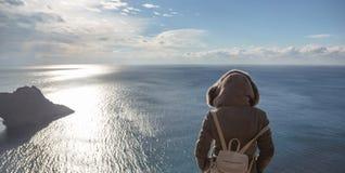 De Noordzee ziet eruit Stock Foto