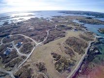 De Noorse luchtmening van de archipel, hommelmening Royalty-vrije Stock Foto's