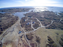 De Noorse luchtmening van de archipel, hommelmening Stock Afbeelding