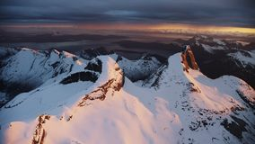 De Noorse Nationale Berg Stetind stock footage
