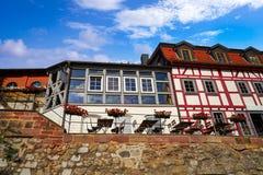 De Nordhausenvoorgevels van de binnenstad Thuringia Duitsland Stock Foto's