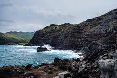 De norr kusterna av Maui Arkivbilder