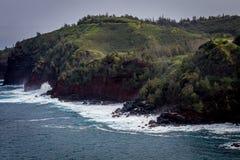 De norr kusterna av Maui Hawaii Arkivbild