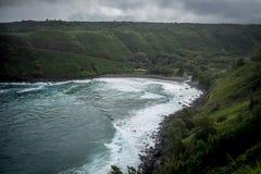 De norr kusterna av Maui Hawaii Arkivbilder