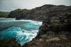 De norr kusterna av Maui Hawaii Arkivfoton