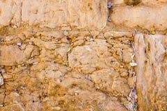 De nota's in de Loeiende Muur. Jeruzalem, Israël stock afbeelding