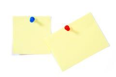 De nota's en de spelden van de post-it Royalty-vrije Stock Afbeelding