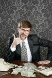 De nota's van de de accountantsdollar van de zakenman nerd Stock Afbeelding