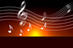 De nota's van de de muziekwereld van Internet royalty-vrije illustratie