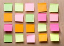 De nota's van de herinnering Stock Foto's