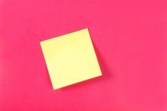 De nota's van de herinnering over het heldere kleurrijke document Stock Foto's