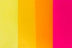 De nota's van de herinnering over het heldere kleurrijke document Stock Afbeelding