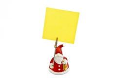 De nota's van de kerstman Stock Afbeeldingen