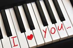 De nota's van de liefde stock afbeelding