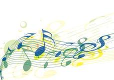 De nota's van de muziek Stock Foto
