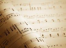 De nota's van de muziek Stock Afbeelding