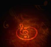 De nota's van de muziek Stock Afbeeldingen