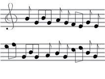 De nota's van de muziek Royalty-vrije Stock Foto's