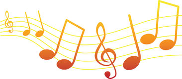 De nota's van de muziek Stock Foto's