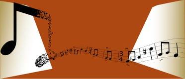 De nota's van de muziek Royalty-vrije Stock Afbeeldingen
