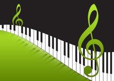 De Nota's van de muziek en pianotoetsenbord Stock Fotografie