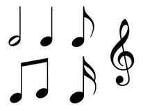 De Nota's van de muziek met Werkende Wegen Stock Foto's