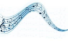 De nota's van de muziek voor kleurrijk ontwerpgebruik Royalty-vrije Stock Foto