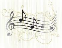 De nota's van de muziek voor uw ontwerp. vector illustratie