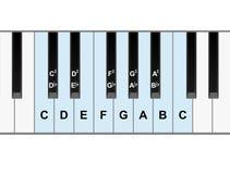 De nota's van de piano Stock Fotografie