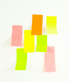 De nota's van de post-it Stock Foto